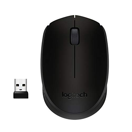 Logitech M171 Mouse Wireless, 2.4 GHz con Mini Ricevitore USB, Rilevamento Ottico, Durata ‎Batteria Fino a 12 Mesi, Mouse Ambidestro per PC/Mac/Laptop, Nero