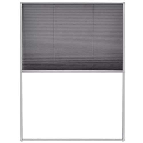 vidaXL 142610 Insektenschutz Alurahmen 60x80 cm Dachfenster Plissee Fliegengitter, Weiß