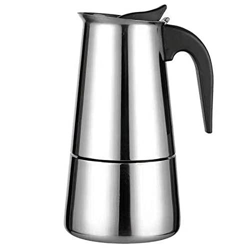 Wendao Cafetera de café espresso de acero inoxidable de 2/4/6 tazas de café espresso de 100/300/200 ml