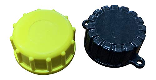 Kool Products Gas Can Cap - Solid Base Replacement Gas Can Cap (1-Coarse and 1-Fine Thread)