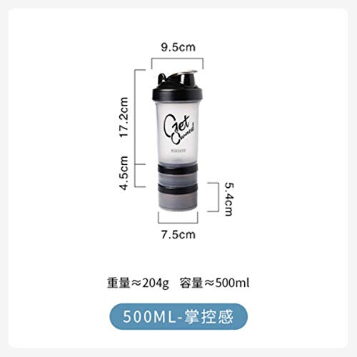 Mugs Coffee Cup Gift Sports Shaker Bottle 500Ml Protein Powder Mixing Bottle Sport Fitness Gym Shaker Portable Plastic Botella Mezclador Protein,Style 1