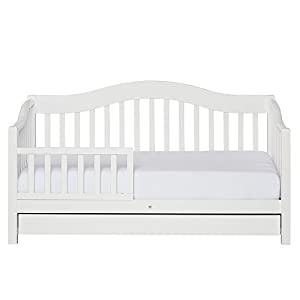 crib bedding and baby bedding dream on me toddler day bed in white, greenguard gold certified