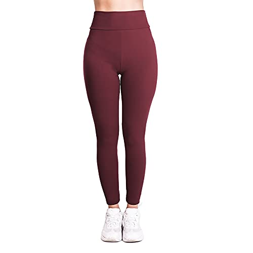 Pantalones de Adelgazantes Mujer Leggins Reductores Adelgazantes Leggings Pantalones de Yoga Tie-Dye Anticeluliticos Cintura Alta Mallas Fitness Push Up para Deporte Mallas Pantalones,Wine red,XXL