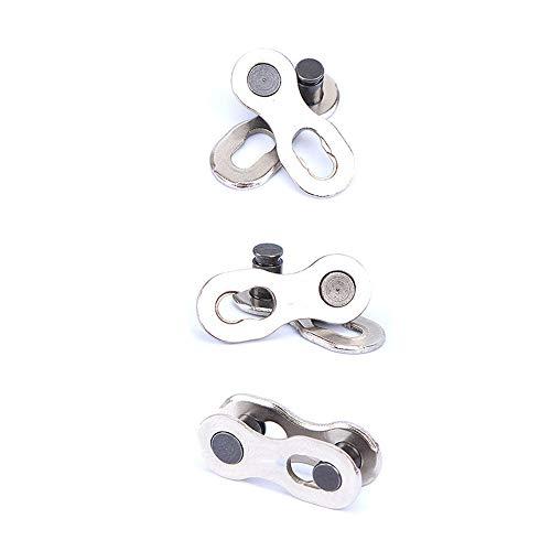 3 pares de cadenas de bicicleta de metal reutilizables para uso en bicicleta, diseño práctico y duradero