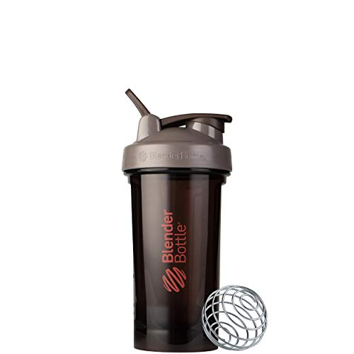 BlenderBottle Shaker Bottle Pro Series Perfect for Protein Shakes and Pre Workout, 24-Ounce, Ash