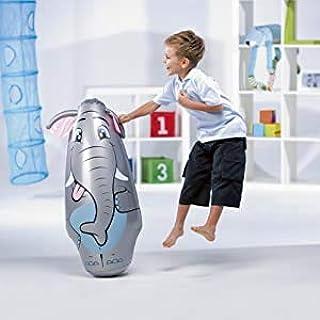 ML hinchables tentepie muñecos y Animales Hinchable tentetioso . muñeco Dinosaurio Hinchable para niños (Gris-Elefante)