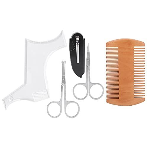 Outil de façonnage de barbe, ensemble de ciseaux de peigne de modèle de façonnage de barbe pour salon pour la maison