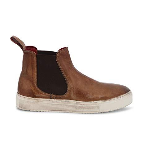 Bed Stu Women's Whitney Leather Sneaker (8 M US, Tan Rustic)