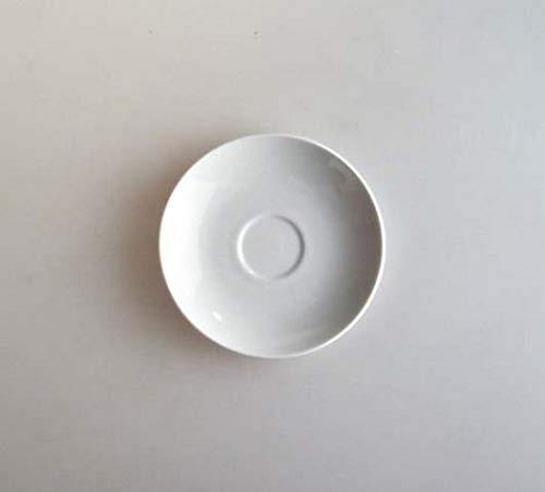 Alessi Sg53/88 Mami Soucoupe Pour Tasse à Café-filtre en Porcelaine Blanche, Set de 6 Pièces