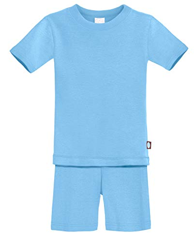 City Threads Certified Organic Thermal Short Sleeve and Short Snug Pajama Set, Baby Boys and Girls...