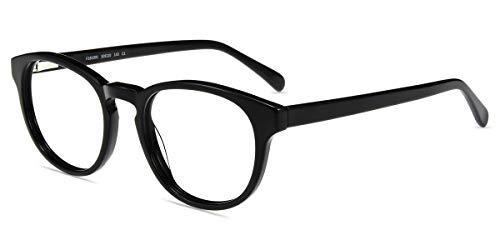Firmoo - Gafas de sol para ordenador (antideslumbrante, antiarañazos, filtro de luz azul, borde completo) Negro 34