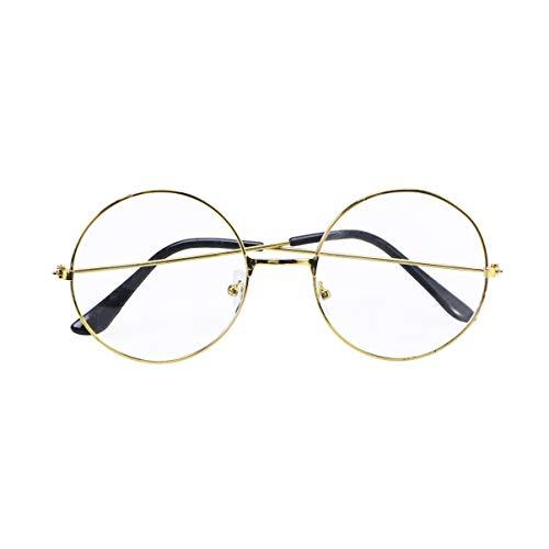 PRETYZOOM Goldene Retro Runde Brille Blaues Licht Blockierende Brille Anti Blaues Licht Brille Blaues Licht Schutz Lesespiel Computerbrille für Frauen Männer