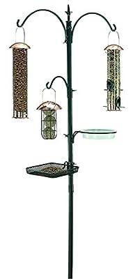 "Useful. It's Premium Bird Feeding Station Kit, 22"" Wide x 91"" Tall, A Multi Feeder Hanging Kit and Bird Bath for Attracting Wild Birds"