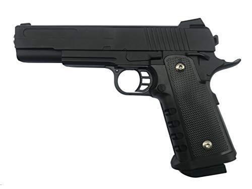 Softair Pistole Voll Metall Rayline RV304 (Manuell Federdruck), Nachbau im Maßstab 1:1, Länge: 23cm, Gewicht: 400g, Kaliber: 6mm, Farbe: Schwarz - (unter 0,5 Joule - ab 14 Jahre)