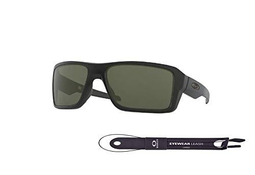Oakley Double Edge OO9380 938001 66MM Matte Black/Dark Grey Rectangle Sunglasses for Men+ BUNDLE with Oakley Accessory Leash Kit