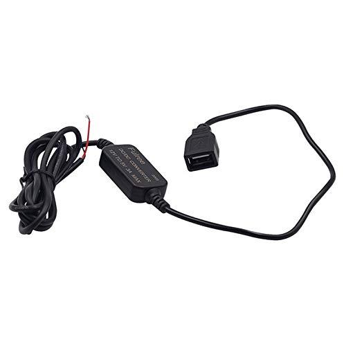 QiKun-Home Chargeur USB étanche DC/DC convertisseur régulateur 12V à 5V 3A Voiture LED Affichage Puissance CPT Voiture régulateur de Puissance Noir