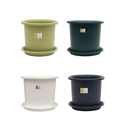 CNCYHP Kunststof Gallon Bloempot van kunststof, 2 liter, 5 liter, 8 liter, 12 liter, 15 liter, geschikt voor grote en middelgrote planten, duurzaam en mooi