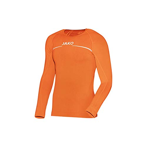 JAKO Longsleeve Comfort - Herren Langarmshirt,orange (neonorange), M