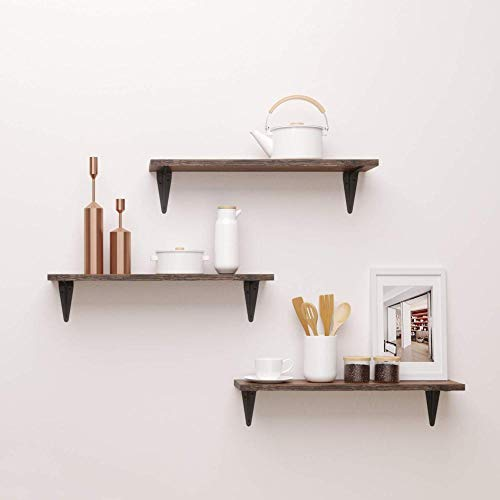 Caiji White Gloss Floating Shelves Wall Decorative Rack Mounted Shelves Modern and Simple Storage Display Shelf