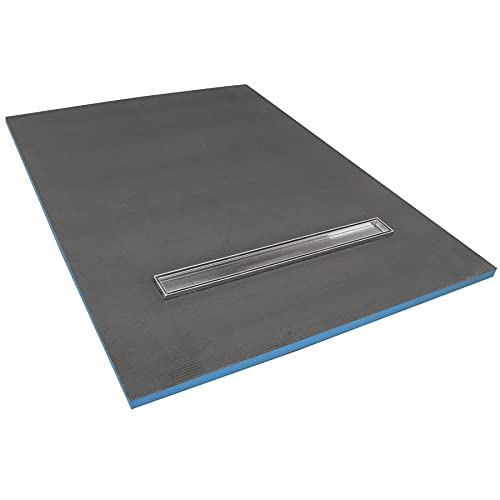1800 x 900 x 30mm Rectangular Shower Tray with Linear Drain - Choice of Shower Grate (Tiles)