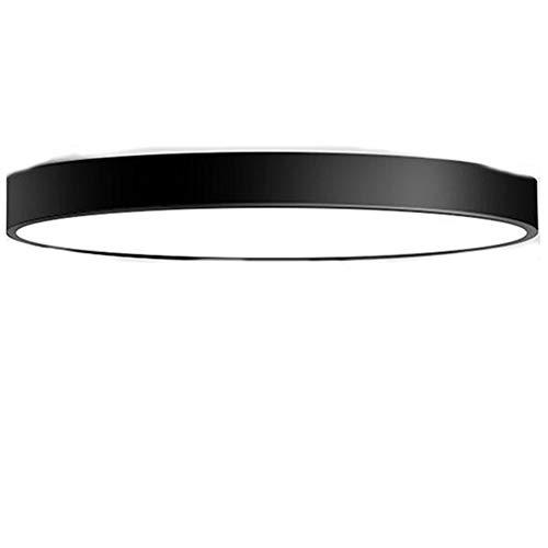 LED-Deckenleuchten, 3 Farben Einstellen Badezimmer-Deckenbeleuchtung wasserdichte Pendelleuchte Tageslicht Weiße Kronleuchterleuchte (110V-240V),Schwarz,50cm
