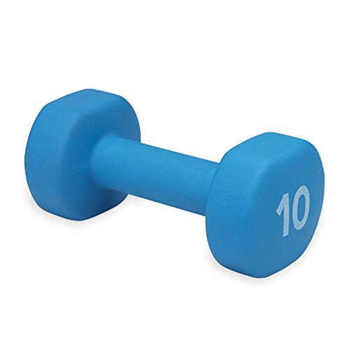 Product Image 1: Gaiam Neoprene Dumbbell Hand Weight, Blue, 10 lb (Sold as Single Dumbbell)