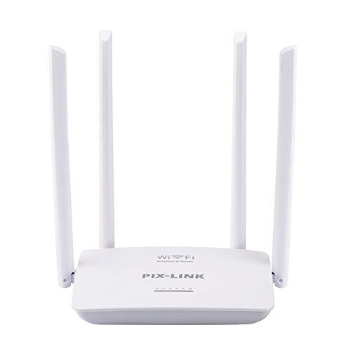 ZENG Enrutador WiFi inalámbrico, enrutador WiFi Inteligente 4 Puertos LAN rápidos Tri-Band Game Radar Enrutador inalámbrico N Cable con Puerto USB para Conexiones de línea telefónica