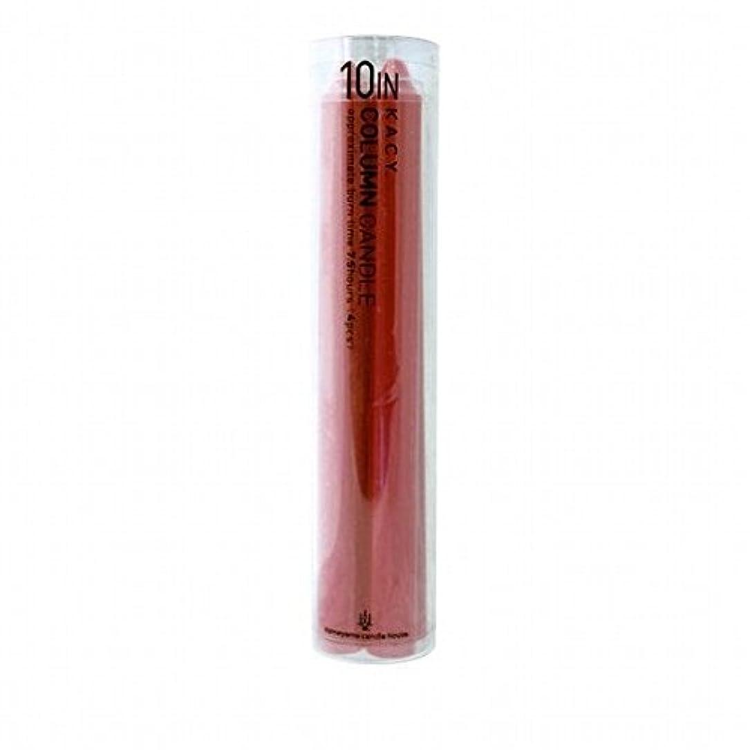 バイオレット過度にブレースkameyama candle(カメヤマキャンドル) 10インチコラムキャンドル4本入り 「 レッド 」(A9123100R)