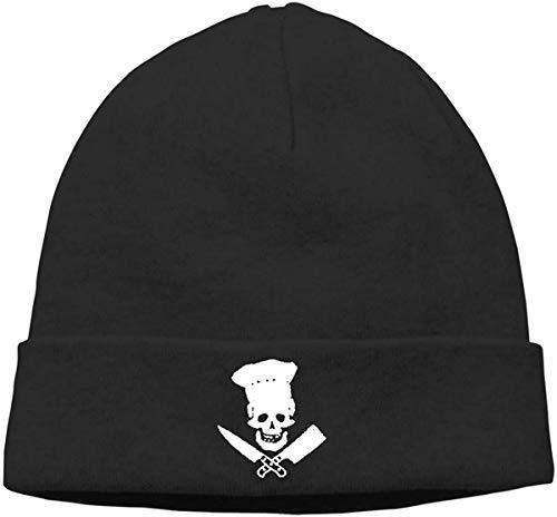 BHGYT Skull-Chef Cooking Skull Unisex Winter Knitting Wool Warm Hüte Daily Slouchy Hütes Beanie Skull Hut