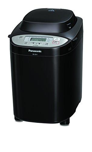Panasonic Brotbackautomat SD-2511K (Brotbackmaschine, 33 Programme, Knethaken, timergesteuerter Rosinen- und Nussverteiler, schwarz)