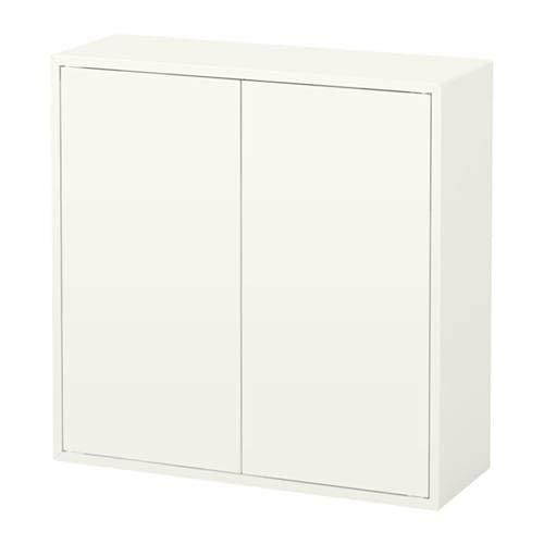 EKET エーケト キャビネット 扉2/棚板2付き, ホワイト 103.346.06