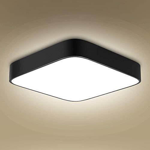 LED Deckenleuchte Deckenlampe LED Deckenleuchte bad 24w 4000K deckenlampe schlafzimmer Quadratische Leuchte für Küche Schlafzimmer Wohnzimmer Esszimmer Balkon Flur [Energieklasse A++] (24)