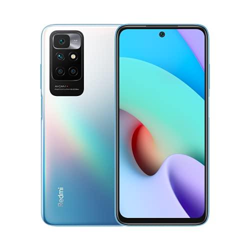 """Xiaomi Redmi 10 - Smartphone 4+128 GB, 6,5"""" FHD+ 90 Hz DotDisplay, MediaTek Helio G88, 50MP cámara cuádruple con IA, 5000 mAh, Azul (Versión ES/PT)"""
