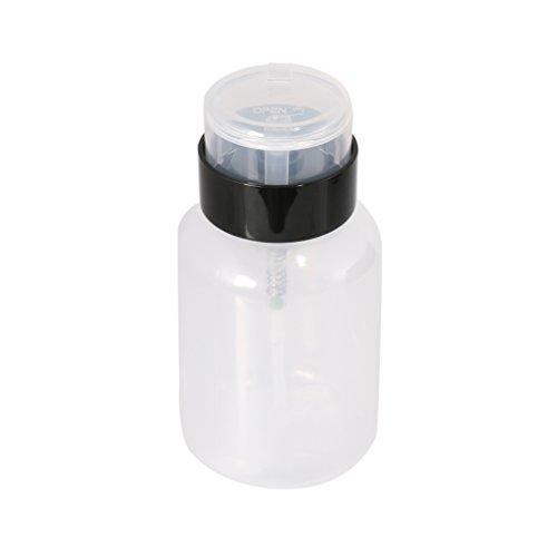 Pompe de Presse en Plastique Distributeur de Nail Art Portable Décapant Essentielle Bouteille