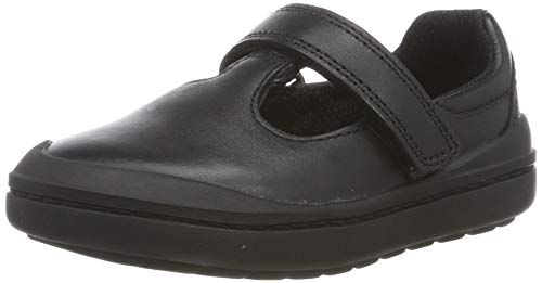 Clarks Rock Move T Bailarinas Niñas, Negro (Black Leather Black Leather), 25 EU
