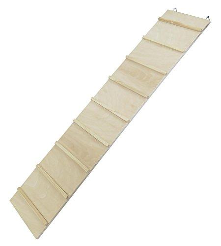 PETGARD Holzleiter Nagertreppe Nagerleiter WEGA 85 x 18 cm aus unbehandeltem Sperrholz
