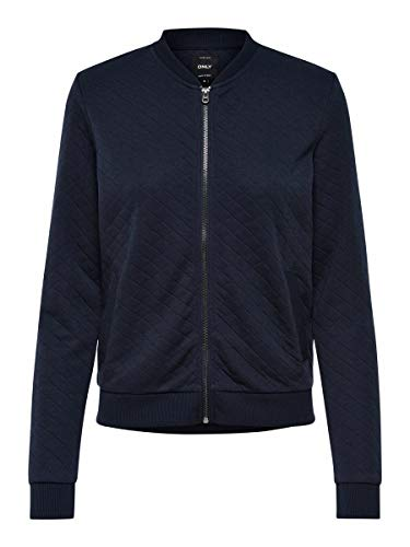 Only Onljoyce Ls Bomber Noos, Chaqueta para Mujer, Azul (Night Sky Night Sky), 34 (Talla del fabricante: X-Small)