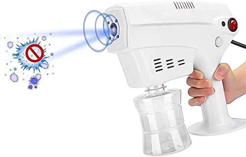 Qiutianchen Sprayer Electric Ulv Sprayer Tragbare Dampfzerstäubungen Sprays Handheld Blau Licht Nano Dampfpistole Sprühmaschine Zerstäubung Sprühgerät für Haarpflege, Zuhause Desinfektion, Büro