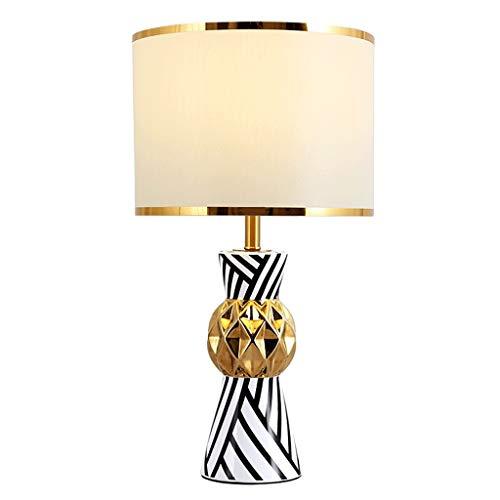 Sencillez Mesilla de noche moderna lámpara de mesa lámpara de rayas, Lámpara de lectura con pantalla de tela for el dormitorio de la sala de estar, Dresser Buenos regalos Decoración hogareña