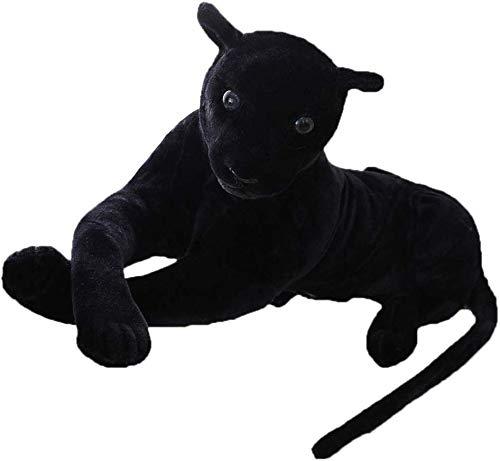 Juguete de peluche Regalos Gigante Negro Leopard Pantera juguetes de peluche relleno suave almohadilla animal for niños (Color : -, Size : 40cm)