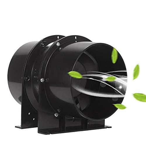 TIZJ Ventilador De Conducto De Escape En Línea, Ventilador De Conducto En Línea De Acero Inoxidable De 6 Pulgadas Escape De Flujo Axial 220V 110V Extractor De Aire para Baño De Cocina