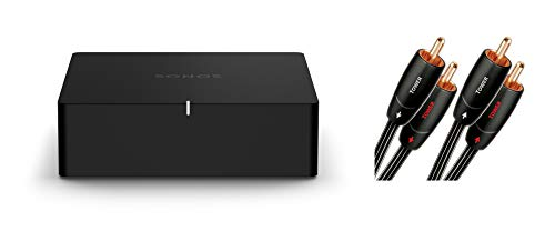 Sonos Port | WLAN Streaming für Stereoanlagen und Receiver (WLAN, AirPlay2, 12-V-Trigger) + 1x AudioQuest Tower Cinch Kabel (2,0 m)