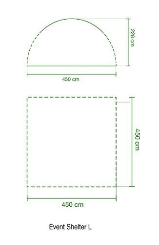 Coleman Event Shelter, grau, 360 x 360 cm, 2000009569 - 2