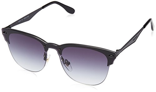 Fastrack Gradient Square Men's Sunglasses - (U004BK2|100|Black Color)