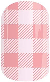 Jamberry Nail Wraps - Beach Party - Full Sheet - Pink Plaid Buffalo Check Gingham - April 2018 Stylebox