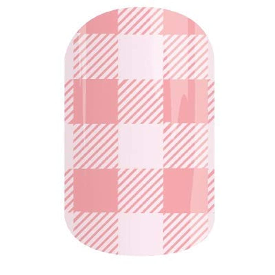 Beach Party - Jamberry Nail Wraps - HALF Sheet - Pink Gingham - April 2018 Stylebox