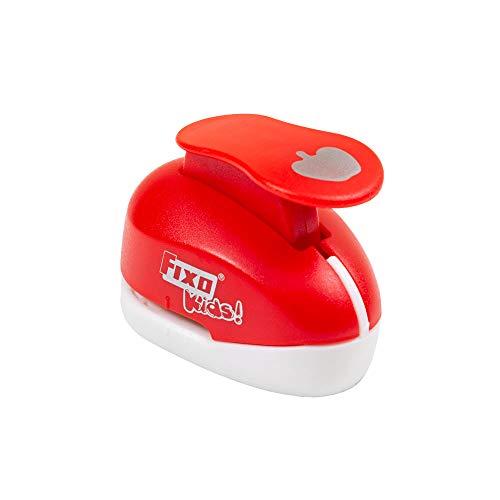 Fixo Kids 62951. Perforadora con Forma de Manzana. 2,5cm. Tamaño Mediano, Rojo