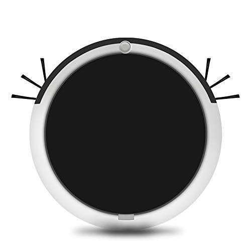 Blusea Robot Aspirador y Fregasuelos, USB Inteligente el hogar Herramienta friega y Pasa la mopa, Especial Mascotas, para Suelos Duros y alfombras, Negro