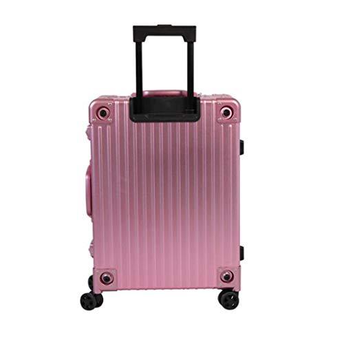 BMUC Maletín para Maquillaje Cosmético Caja de Aleación de Aluminio Pantalla Táctil Inteligente Audio Bluetooth Beauty Case Profesional Organizador,Pink