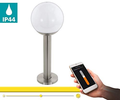 Eglo Nisia-C - Lámpara de pie (9 W, acero inoxidable)
